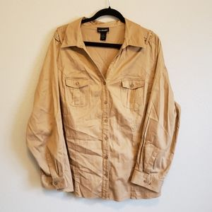 Lane Bryant Button Up Light Weight Blouse